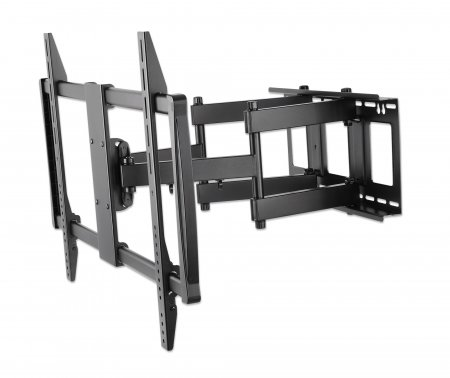"Universal LCD Full-Motion Large-Screen Wall Mount - , Holds One 60"" to 100"" Flat-Panel or Curved TV up to 80 kg (176 lbs.); Adjustment Options to Tilt, Swivel and Level; Black"