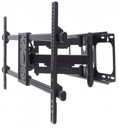 "Universal LCD Full-Motion Large-Screen Wall Mount - , Holds One 37"" to 90"" Flat-Panel or Curved TV up to 75 kg (165 lbs.); Adjustment Options to Tilt, Swivel and Level; Black"