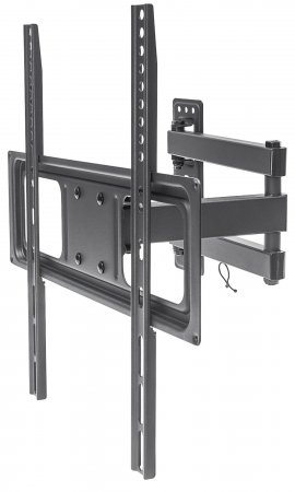 "Universal Basic LCD Full-Motion Wall Mount - , Holds One 32"" to 55"" Flat-Panel or Curved TV up to 35 kg (77 lbs.); Adjustment Options to Tilt, Swivel and Level; Black"