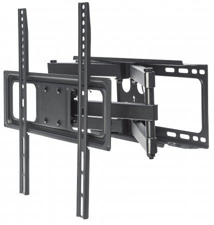 "Universal Basic LCD Full-Motion Wall Mount - , Holds One 32"" to 55"" Flat-Panel or Curved TV up to 40 kg (88 lbs.); Adjustment Options to Tilt, Swivel and Level; Black"