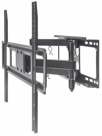 "Universal Basic LCD Full-Motion Wall Mount - , Holds One 37"" to 70"" Flat-Panel or Curved TV up to 40 kg (88 lbs.); Adjustment Options to Tilt, Swivel and Level; Black"
