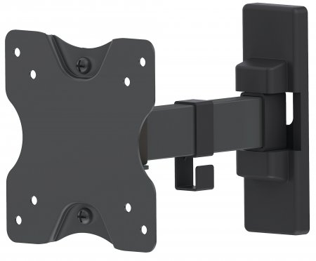 "Universal Flat-Panel TV Articulating Wall Mount - , Single Arm Supports One 13"" to 27"" TV or Monitor up to 20 kg (44 lbs.), Black"