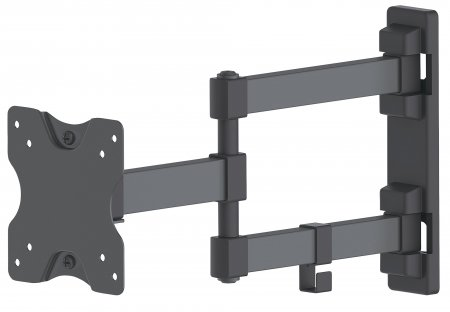"Universal Flat-Panel TV Articulating Wall Mount - , Double Arm Supports One 13"" to 27"" TV or Monitor up to 20 kg (44 lbs.), Black"