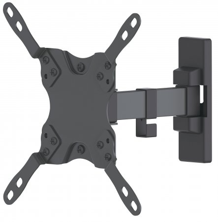 "Universal Flat-Panel TV Articulating Wall Mount - , Single Arm Supports One 13"" to 42"" TV or Monitor up to 20 kg (44 lbs.), Black"