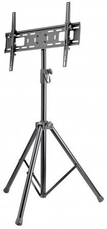 "Universal Portable TV Mount Tripod - , Supports 37"" to 70"" TVs; -8° – 0° Tilt, Black"