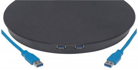 Standfuß mit flexiblem Monitorarm für einen Monitor MANHATTAN Freistehende Tischhalterung, per Gasdruckfeder verstellbar, für ein Display von 13