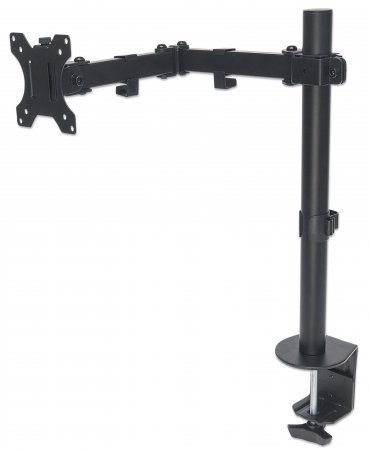 "Universal Monitor Mount with Double-Link Swing Arm - , Holds One 13"" to 32"" LCD Monitor up to 8 kg (17 lbs.), Black"
