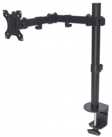Tischhalterung mit Monitorarm für ein Display MANHATTAN Für ein Display von 13'' bis 32'' und bis zu 8 kg, zweifach schwenkbar, schwarz