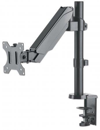 Universal-Tischhalterung mit Gasdruckfeder für einen Monitor MANHATTAN Halterungsarm mit Gasdruckfeder und Kugelgelenk, geeignet für einen Monitor von 17