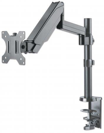 Universal-Tischhalterung mit Gasdruckfeder für einen Monitor MANHATTAN Halterungsarm mit Gasdruckfeder, Kugelgelenk und Verlängerungsarm, geeignet für einen Monitor von 17