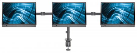 LCD Monitor Mount with Center Mount and Double-Link Swing Arms