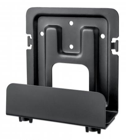 Wandhalterung für Streamingboxen und Media-Player MANHATTAN Trägt ein Streaminggerät (Apple TV, Roku, Xiaomi, Raspberry Pi und mehr) bis zu 5 kg, 47 - 76 mm ausziehbar, Stahl, schwarz