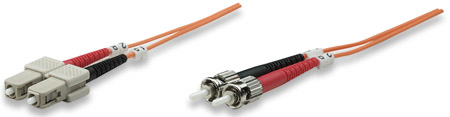 Fiber Optic Patch Cable, Duplex, Multimode - , ST/SC, 50/125 µm, OM2, 10.0 m (33.0 ft.), Orange