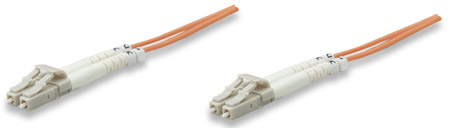 Fiber Optic Patch Cable, Duplex, Multimode - , LC/LC, 50/125 µm, OM2, 2.0 m (7.0 ft.), Orange