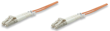 Fiber Optic Patch Cable, Duplex, Multimode - , LC/LC, 50/125 µm, OM2, 10.0 m (33.0 ft.), Orange