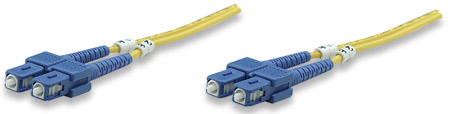 Fiber Optic Patch Cable, Duplex, Single-Mode - , SC/SC, 9/125 µm, OS2, 1.0 m (3.0 ft.), Yellow
