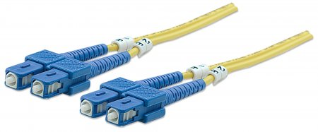 Fiber Optic Patch Cable, Duplex, Single-Mode - , SC/SC, 9/125 µm, OS2, 2.0 m (7.0 ft.), Yellow