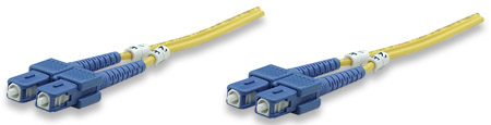 Fiber Optic Patch Cable, Duplex, Single-Mode - , SC/SC, 9/125 µm, OS2, 10.0 m (33.0 ft.), Yellow