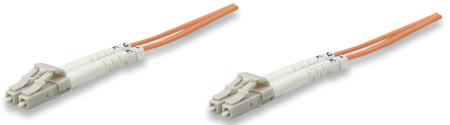 Fiber Optic Patch Cable, Duplex, Multimode - , LC/LC, 62.5/125 µm, OM1, 2.0 m (7.0 ft.), Orange