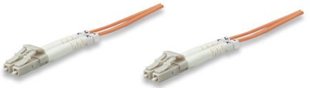 Fiber Optic Patch Cable, Duplex, Multimode - , LC/LC, 62.5/125 µm, OM1, 5.0 m (14.0 ft.), Orange