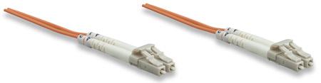 Glasfaser LWL-Anschlusskabel, Duplex, Multimode INTELLINET LC/LC, 62,5/125 µm, OM1, 5 m, orange