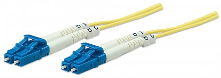 Fiber Optic Patch Cable, Duplex, Single-Mode - , LC/LC, 9/125 µm, OS2, 3.0 m (10.0 ft.), Yellow