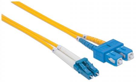 Glasfaser LWL-Anschlusskabel, Duplex, Singlemode INTELLINET LC/SC, 9/125 µm, OS2, 3 m, gelb