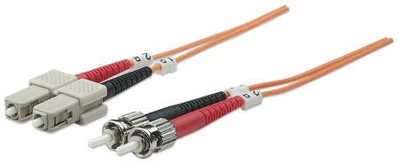 Fiber Optic Patch Cable, Duplex, Multimode - , ST/SC, 50/125 µm, OM2, 20.0 m (70.0 ft.), Orange