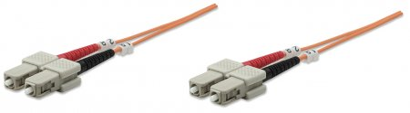 Fiber Optic Patch Cable, Duplex, Multimode - , SC/SC, 62.5/125 µm, OM1, 20.0 m (66.0 ft.), Orange
