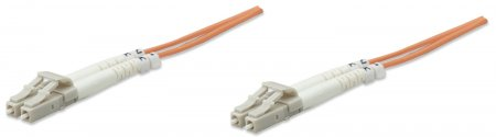 Fiber Optic Patch Cable, Duplex, Multimode - , LC/LC, 62.5/125 µm, OM1, 20.0 m (66.0 ft.), Orange