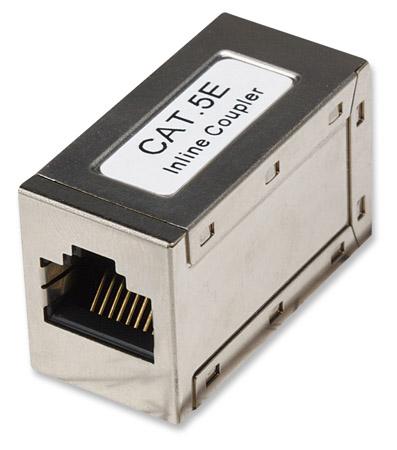Cat5e Inline-Kupplung INTELLINET 8P8C Buchse auf 8P8C Buchse, FTP, Silber