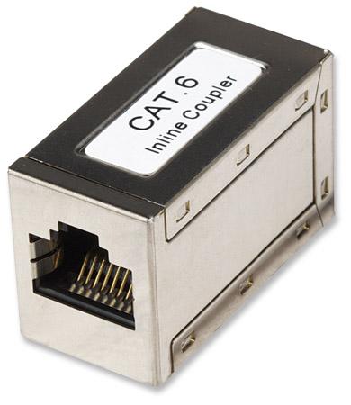 Cat6 Modular Inline Coupler - , 8P8C Female to 8P8C Female, FTP, Silver