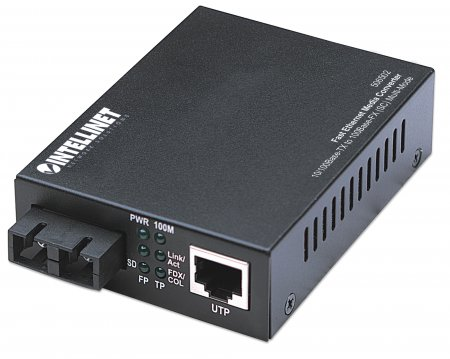 Fast Ethernet Media Converter - , 10/100Base-TX to 100Base-FX (SC) Multi-Mode, 2 km (1.24 mi)