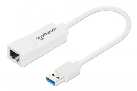 USB 3.0 auf Gigabit Ethernet Adapter 10/100/1000 Mbit/s Gigabit Ethernet, SuperSpeed USB 3.0 MANHATTAN