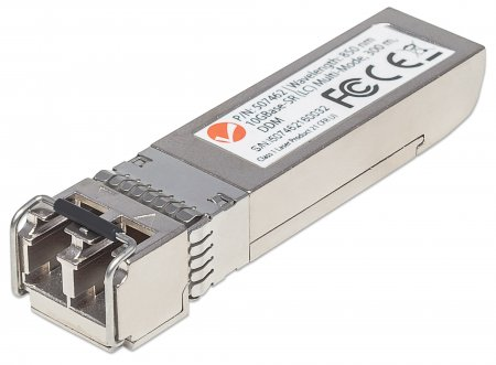 10 Gigabit SFP+ Mini-GBIC Transceiver für LWL-Kabel 10GBase-SR (LC) Multimode-Port, 300 m INTELLINET