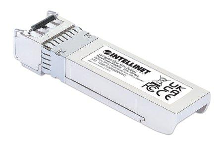 10 Gigabit SFP+ Mini-GBIC Transceiver für LWL-Kabel INTELLINET 10GBase-SR (LC) Multimode-Port, 300 m