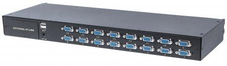 Modularer 16-Port KVM-Switch mit VGA-Schnittstelle INTELLINET Zur Verwendung mit Intellinet Rackmount LCD-Konsolen 508032 oder 507981