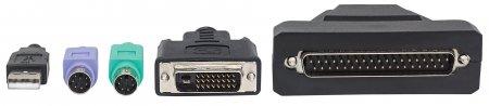 1-Port DVI-Kabel für KVM-Konsole INTELLINET Zur mit 19'' 507905 (BILD3)