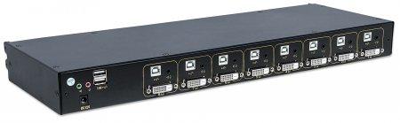 Modularer 8-Port KVM-Switch mit DVI-Schnittstelle INTELLINET Zur Verwendung mit Intellinet Rackmount LCD-Konsole 508117