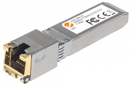 10 Gigabit Copper SFP+ Transceiver Module - , 10GBase-T (RJ45) Port, 30 m (98 ft.), up to 10 Gbps Data-Transfer Rate with Cat6a Cabling