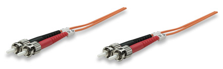 Fiber Optic Patch Cable, Duplex, Multimode - , ST/ST, 62.5/125 µm, OM1, 5.0 m (14.0 ft.), Orange