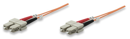Fiber Optic Patch Cable, Duplex, Multimode - , SC/SC, 62.5/125 µm, OM1, 5.0 m (14.0 ft.), Orange