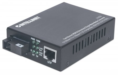 Fast Ethernet WDM Bi-Directional Single Mode Media Converter - , 10/100Base-TX to 100Base-FX (SC) Single-Mode, 20 km (12.4 mi.), WDM (RX1310/TX1550)