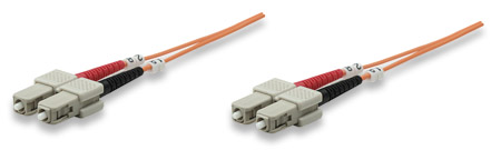 Fiber Optic Patch Cable, Duplex, Multimode - , SC/SC, 62.5/125 µm, OM1, 3.0 m (10.0 ft.), Orange