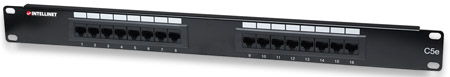 Cat5e Patch Panel - , 16-Port, UTP, 1U