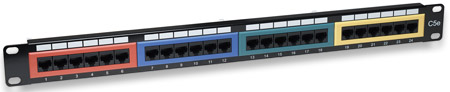 Cat5e Color-Coded Patch Panel