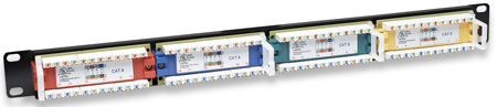 Cat6 Color-Coded Patch Panel