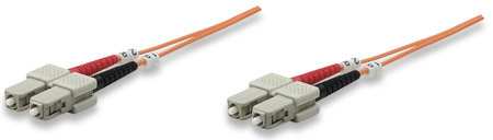 Fiber Optic Patch Cable, Duplex, Multimode - , SC/SC, 62.5/125 µm, OM1, 1.0 m (3.0 ft.), Orange