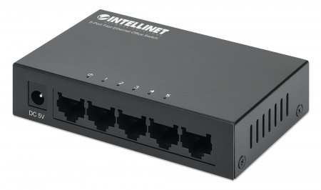 5-Port Fast Ethernet Office Switch - Green Ethernet power-saving technology is good for the environment and saves you money!, Desktop Size, Metal, IEEE 802.3az (Energy Efficient Ethernet)