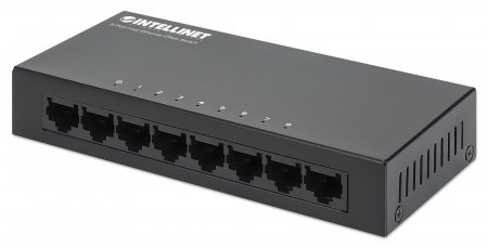 8-Port Fast Ethernet Office Switch INTELLINET Metall, Desktop, IEEE 802.3az (Energy Efficient Ethernet)